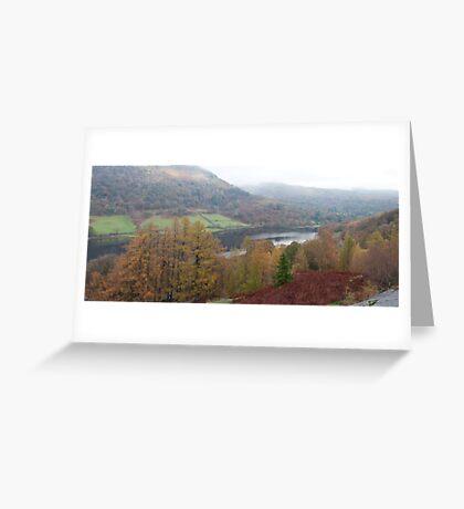 Rydal Water Panorama Greeting Card