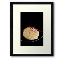 Cheese Cookie With Chili and Salt Grains Framed Print