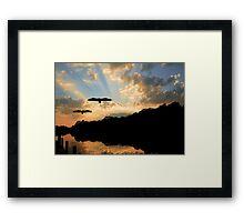 Sunset Along The Waccamaw River Framed Print