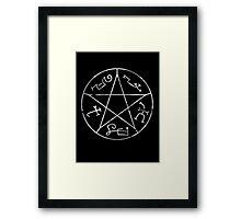 Devil's Trap White Framed Print
