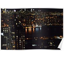 East River at Night Poster
