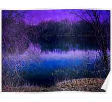 Surreal River Reflection Poster