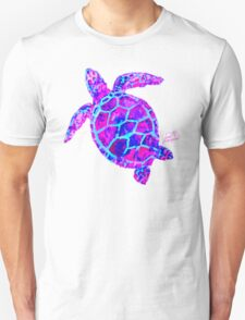 Sea Turtle Pink and Blue Unisex T-Shirt