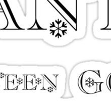 CHRISTMAS TEE - SANTA I'VE BEEN GOOD .... Sticker