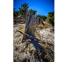 broken fence Photographic Print