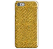 Yellow Lines Knit iPhone Case/Skin