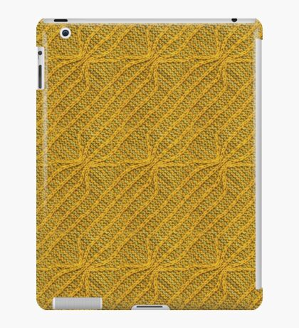 Yellow Lines Knit iPad Case/Skin