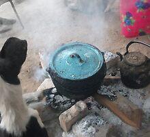 La Olla Azul -- The Turquoise Pot by cloudheadART