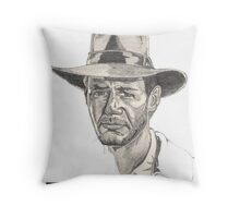 Indiana Jones Portrait Throw Pillow