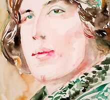 OSCAR WILDE watercolor portrait by lautir