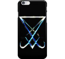 THE SIGIL OF LUCIFER - cold metal iPhone Case/Skin