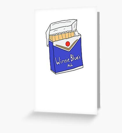 Winnie Blues Mate Greeting Card