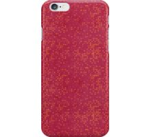 Orange Micro Dots on Grunge Red iPhone Case/Skin