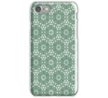 Mint Green Floral Pattern iPhone Case/Skin