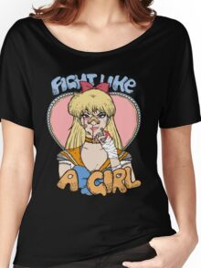 Sailor Moon - Fight Like A Sailor (Sailor Venus) Women's Relaxed Fit T-Shirt