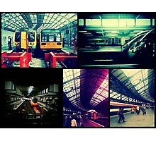 Trains Collage Photographic Print