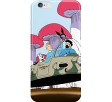 Tintin is going to visit the rabbit mob iPhone Case/Skin