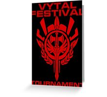Vytal Fesitval Tournament - Red Greeting Card