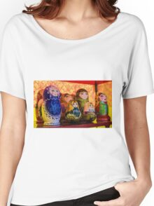 Funky Russian Puzzle Dolls Women's Relaxed Fit T-Shirt
