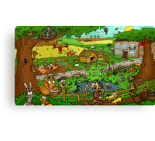 Educational Countryside Image Canvas Print