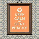 Keep Calm Peach (Framed) by DParry