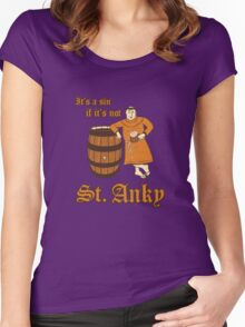 St. Anky Beer Women's Fitted Scoop T-Shirt