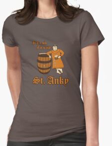 St. Anky Beer Womens Fitted T-Shirt
