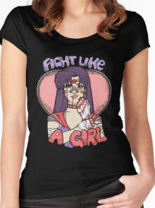 Sailor Moon - Fight Like A Sailor (Sailor Mars) Women's Fitted Scoop T-Shirt