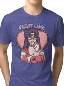 Sailor Moon - Fight Like A Sailor (Sailor Mars) Tri-blend T-Shirt