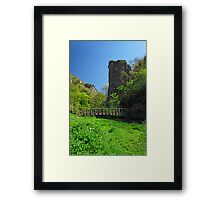 Ilam Rock and Ilam Rock Bridge  Framed Print