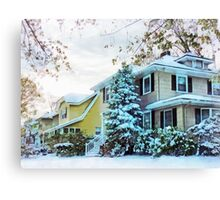 Steely Winter Sky Canvas Print