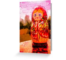Traditional Russian Matryoshka Nesting Puzzle Dolls Greeting Card