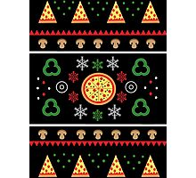 Winter Pizza in Black Photographic Print