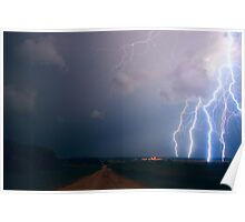 Lightning over the field Poster