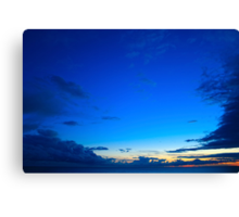 Beautiful blue sky over the sea at sunset  Canvas Print