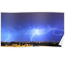 Lightning over the city Poster