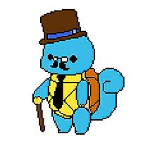 Sir Squirtle - pixel art Photographic Print