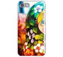Traditional Russian Matrushka Nesting Puzzle Dolls iPhone Case/Skin
