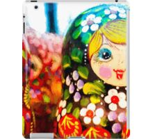 Traditional Russian Matrushka Nesting Puzzle Dolls iPad Case/Skin