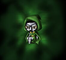 Chibi Dr. Doom by artwaste