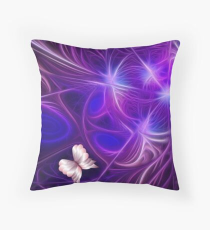 Butterfly Embrace Throw Pillow