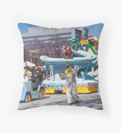 Penguin School  Throw Pillow