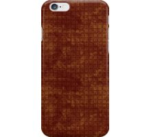 Grungy Red and Gold Floral Pattern iPhone Case/Skin