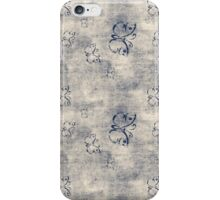 Grungy Black Butterfly Pattern iPhone Case/Skin