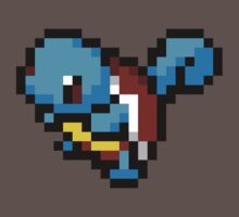 Squirtle - 8 bit Kids Clothes