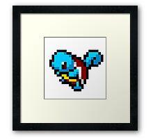 Squirtle - 8 bit Framed Print