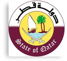 Emblem of Qatar Canvas Print
