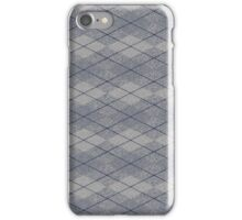 Gray and Blue Argyle iPhone Case/Skin