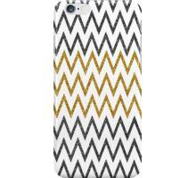 Elegant black gold faux glitter chevron zigzag iPhone Case/Skin