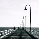 Kerferd Rd Pier B&W by David Toolan